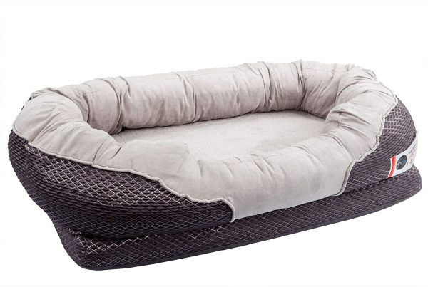 BarksBar Gray Orthopedic Large Dog Bed