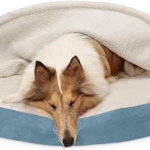 Furhaven Pet - Round Large Dog Orthopedic Bed Cave