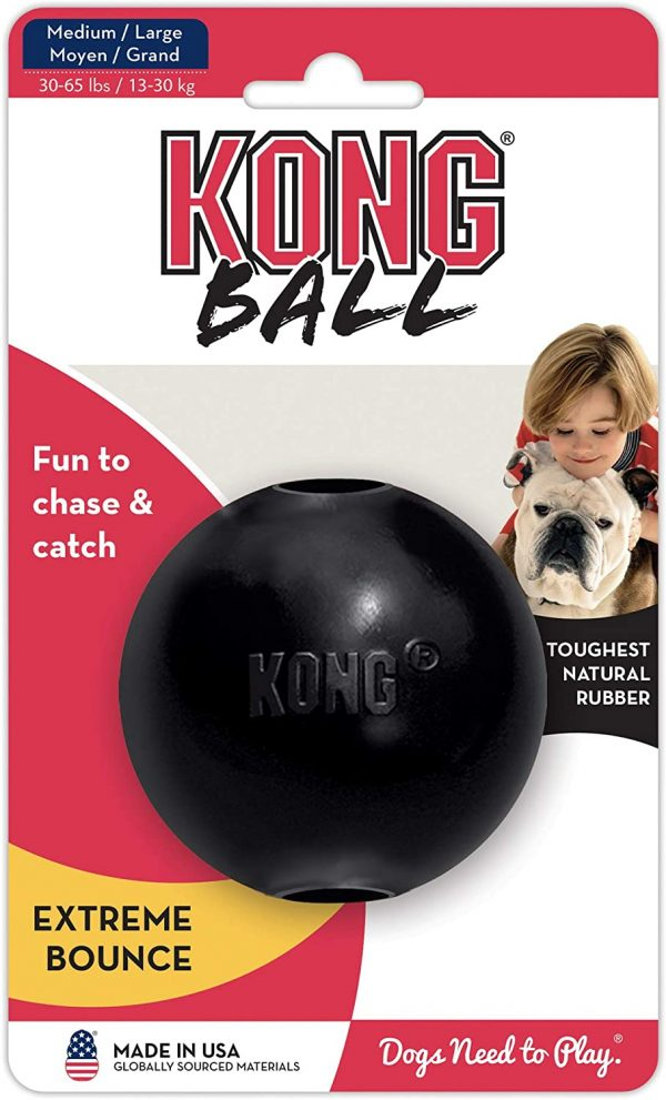 KONG Extreme Ball Durable Rubber Large Dog Toy