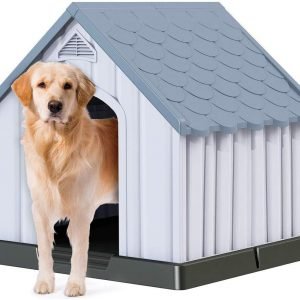 Plastic Large Dog House Waterproof Ventilated Durable