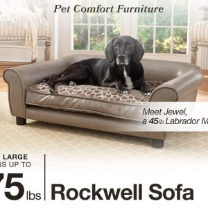 Enchanted Home Pet Pewter Rockwell Large Dot Pet Sofa